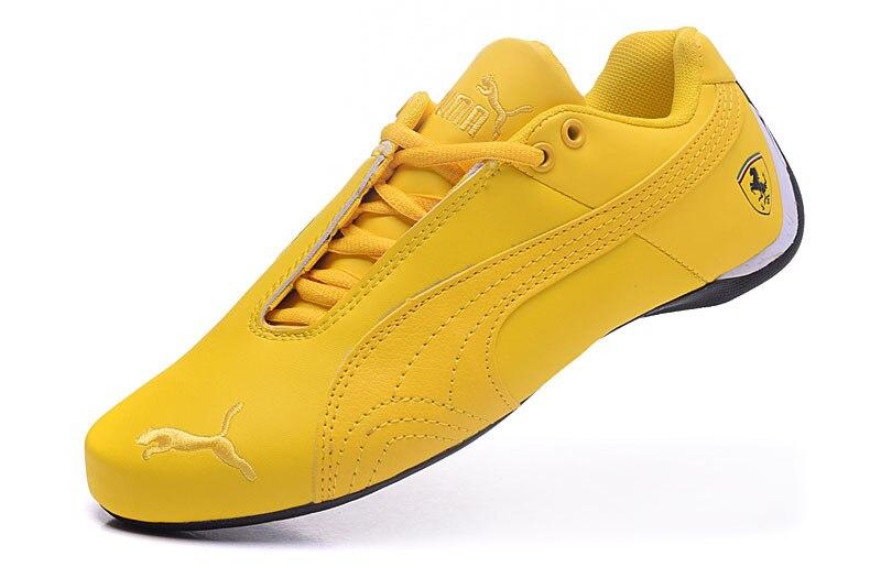 Nouveau arrivent Puma jaune Suede Creepers chaussures pour hommes baskets respirantes Scuderia Ferr-ari Professionnel chaussures de skateboard taille 40-44