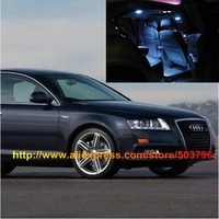 Free Shipping 12pcs/lot car-styling White Interior LED Lights For Audi A6 C6 2004-2011