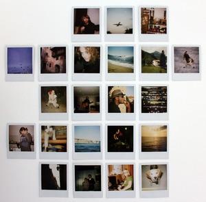 Image 5 - Original Color 600 película 8 hojas fotos instantáneas papel de marco blanco para Vintage 600 636 Closeup OneStep cámaras Tipo i
