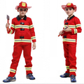 Fireman costumes boys play stage Halloween children clothing firefighters fire fighters co50157165