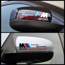 HOT Excellent New 2pcs 3D M rearview mirror car Sticker Badge case for BMW E34 E36 E60 jacket E46 E39 X1 X3 X6 car styling
