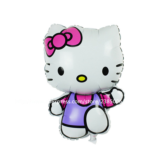 50 Sztukpartia New Arrival Hello Kitty Folia Mylar Balony ślubna Kt