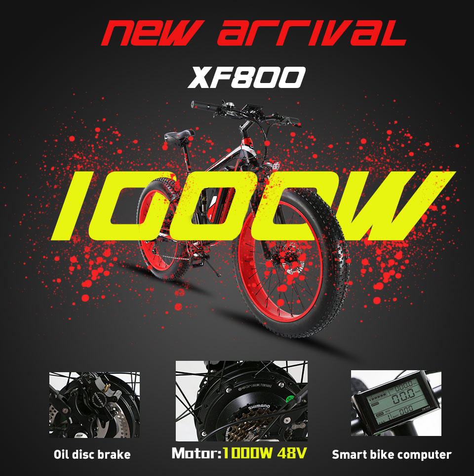 HTB1D wAM9zqK1RjSZFHq6z3CpXaH - Cyrusher XF800 1000W 48V Electrical Bike Full Suspension body 7 Speeds widewheel highway Bike out of doors sensible speedometer Ebike