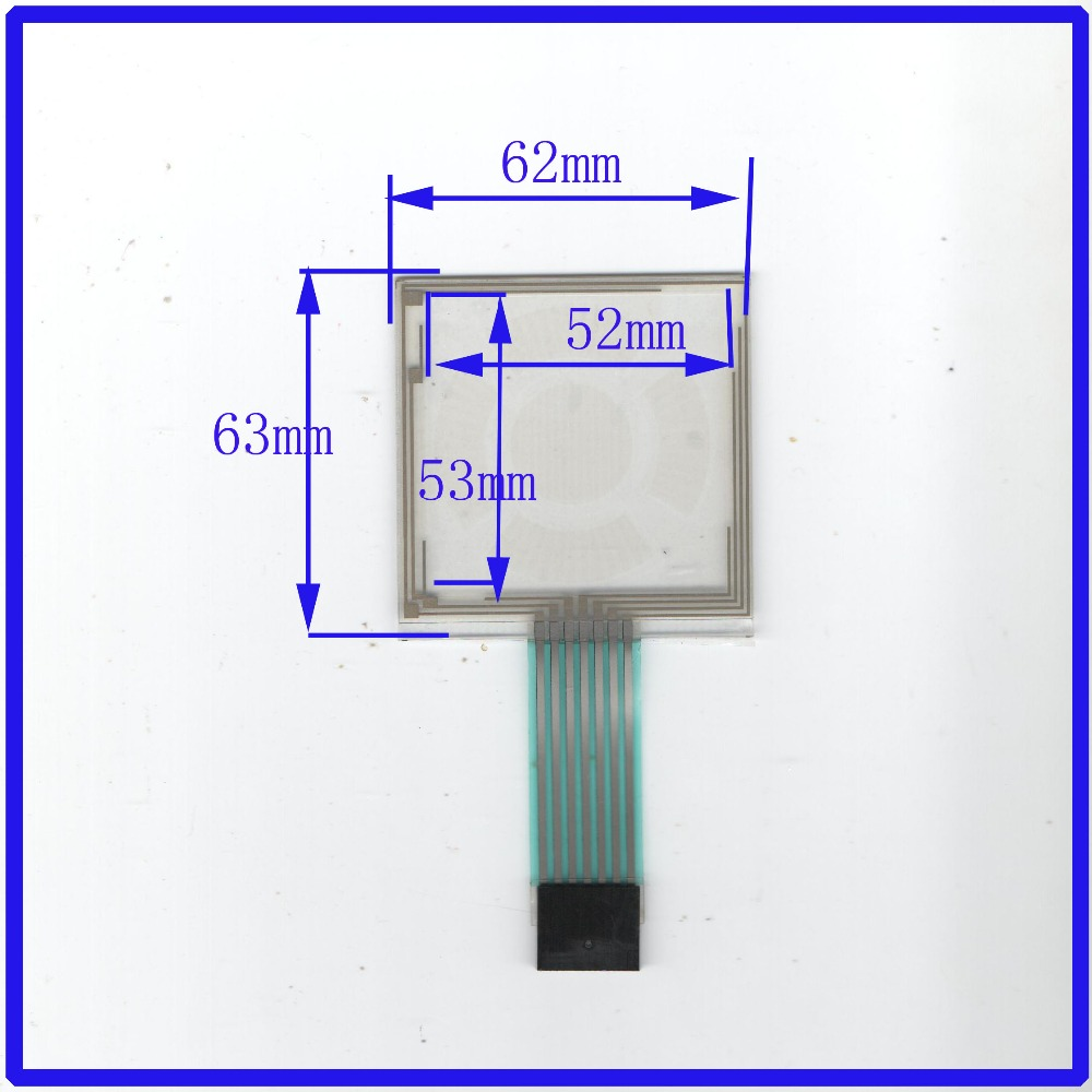 NEW3.5 inch 62mm*63mm Touch Screen 8 wire resistive USB touch panel overlay kit 62*63 TOUCH SCREEN GLASS