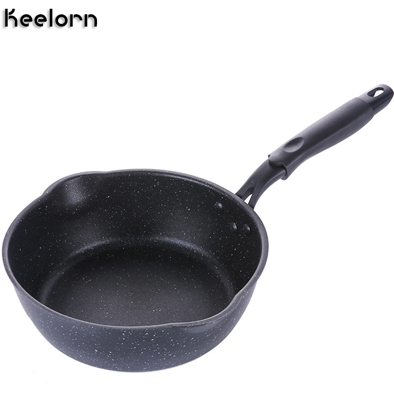 Keelorn 20CM Maifan Stone Wok Non stick Pan Frying Pans Soup Pot Frying Pan Multi purpose Kitchen Pot General Use for Gas-in Pans from Home & Garden