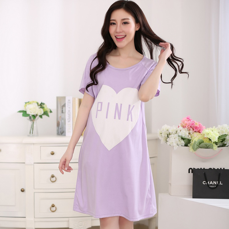 Summer Maternity Breastfeeding Nursing Nightgowns Pregnant Women ...