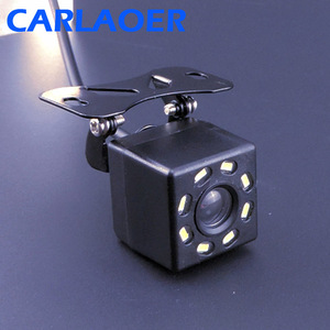 Car Rear View Camera Universal Backup Parking Camera 8 LED Night Vision Waterproof HD Color Image 6m or 8m video cable optional(China)
