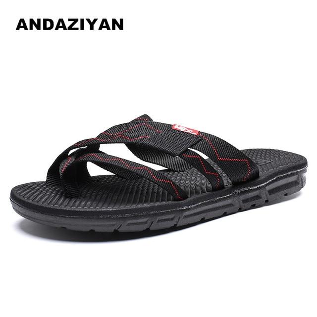 Summer flip flops men's flat slip slip toe slippers