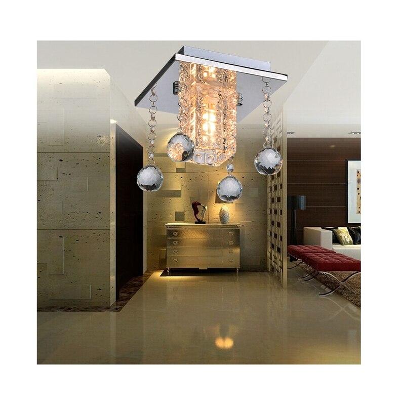 (US) plafonnier à LED en cristal lampe moderne minimaliste salon/chambre/étude/entrée/porche/allée lumière livraison directe