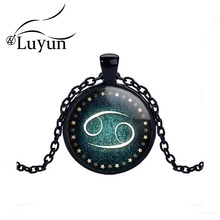 цена на Luyun Crystal Glass Necklace Alloy Constellation Dome Necklace Customizable Characteristic Pendant Necklace Jewelry