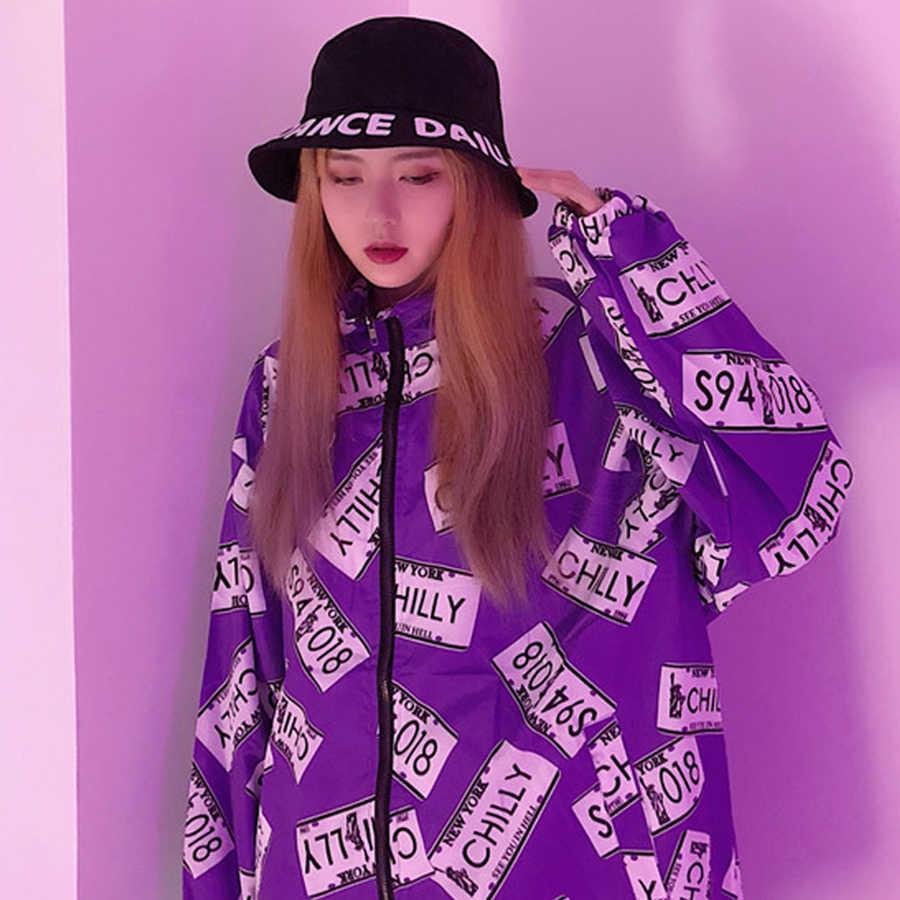 เสื้อลำลองผู้หญิงหลวมยาวแขนยาว Ulzzang Harajuku เกาหลีเสื้อผ้าแฟชั่น Streetwear สตรีเสื้อและเสื้อ 50H0097