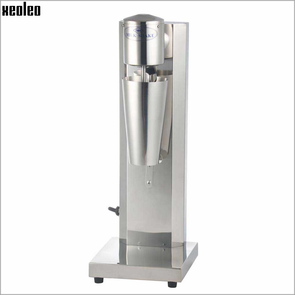 Xeoleo Commercial Milk shake machine Stainless Steel Milkshaker Bubble Tea stirring machine 30cup/hr Milk bubble Mixer the saem silk hair argan coating essence