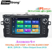 SilverStrong 4G RAM Android9.0 OctaCore Car DVD Player For Toyota Auris Hatchback Car 2din raido gps Navigation tape recorder