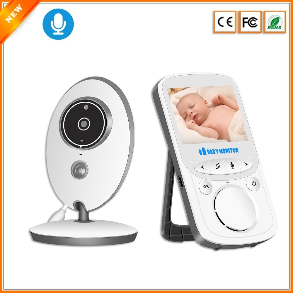 BESDER VB605 Wireless Video Baby Monitor 2 4 inch Mini Camera 2 4GHz Intercom Temperature Monitoring