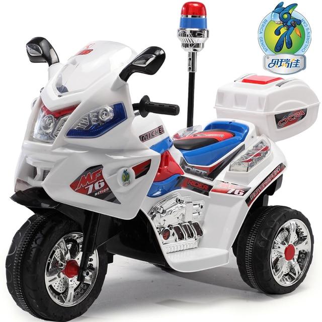 enfant v lo lectrique tricycle poussette moto voiture lectrique voiture de police de voiture. Black Bedroom Furniture Sets. Home Design Ideas