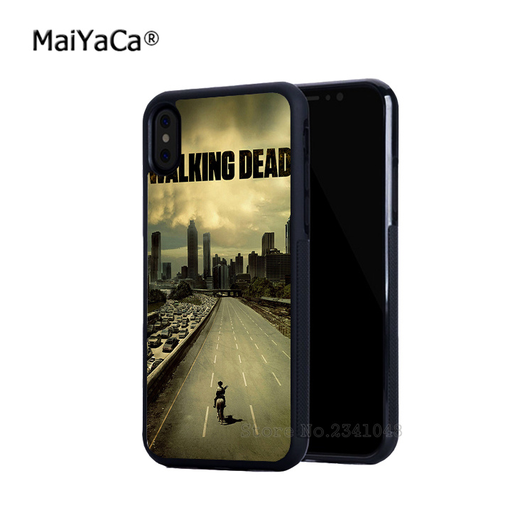Hight qualidade walking dead borda de silicone macio phone cases para iphone 5s se 6 6s plus 7 7 plus 8 8 plus X XR XS MAX tampa do caso