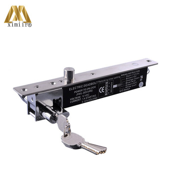 Power To Open DC12V For Fully Frameless Stainless Steel 16mm Throw Electric Mortise Lock 400T NO Electric Bolt Lock