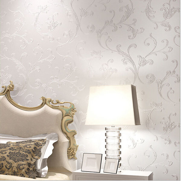 Simple Bedroom Wallpaper aliexpress : buy europe elegant acanthus leaf non woven