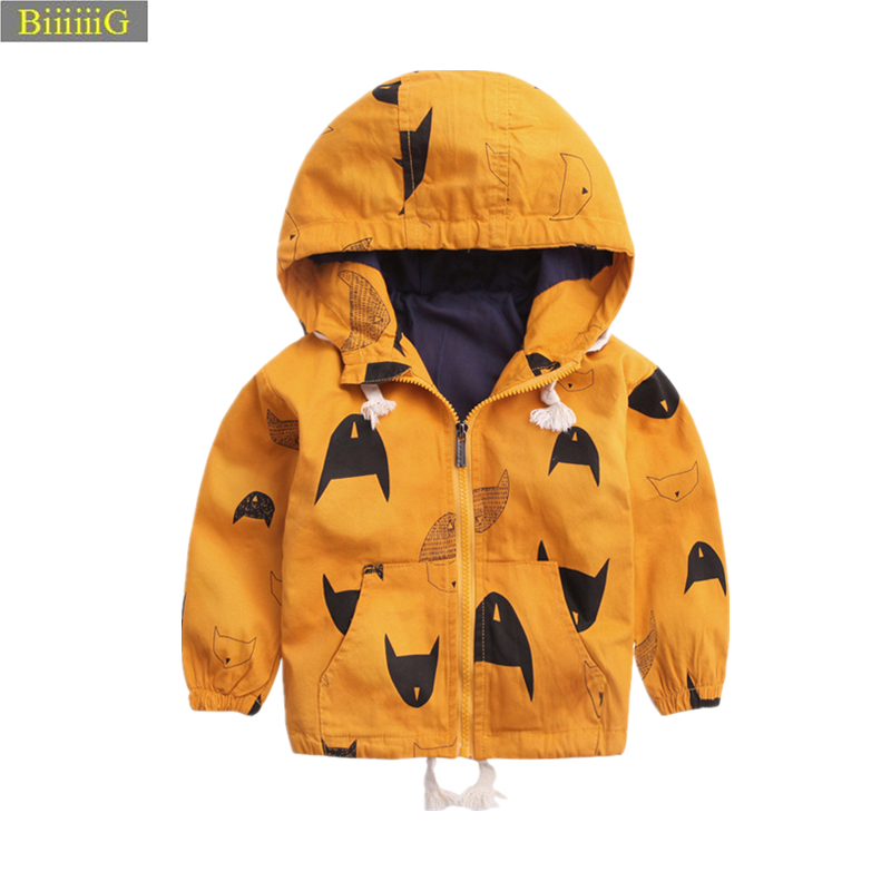 Spring Autumn Boys Cartoon Hooded Jacket 2018 New Brand Design Clothing For Kids Casual  ...