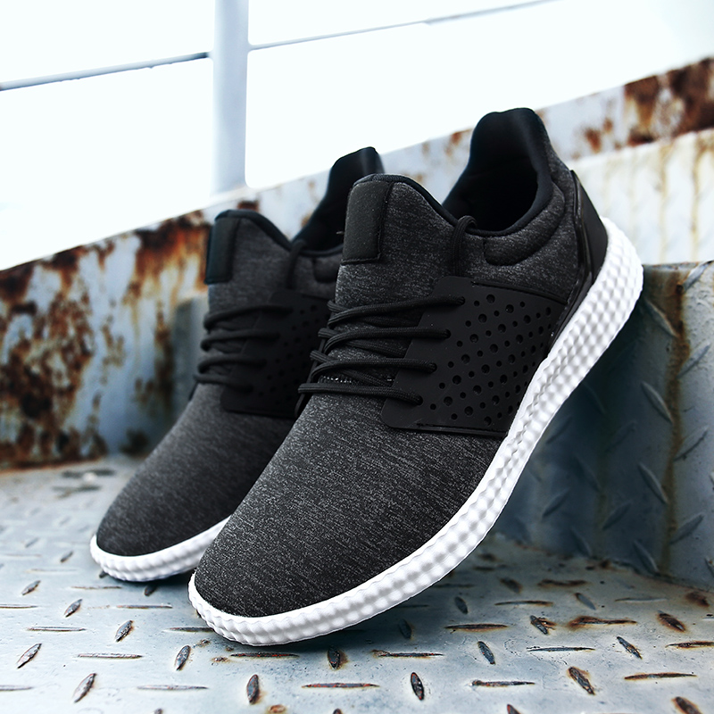 2018 Lifestyle Men Running Shoes With Good Quality Stable Stretch Fabric Ultra Comfortable Outdoor Walking Jogging Shoes Lace Up