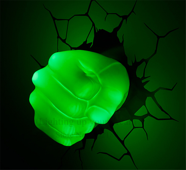 Creative avengers hulk hand fist night light 3d wall lamp amazing creative avengers hulk hand fist night light 3d wall lamp amazing baby room decoration night light aloadofball Image collections