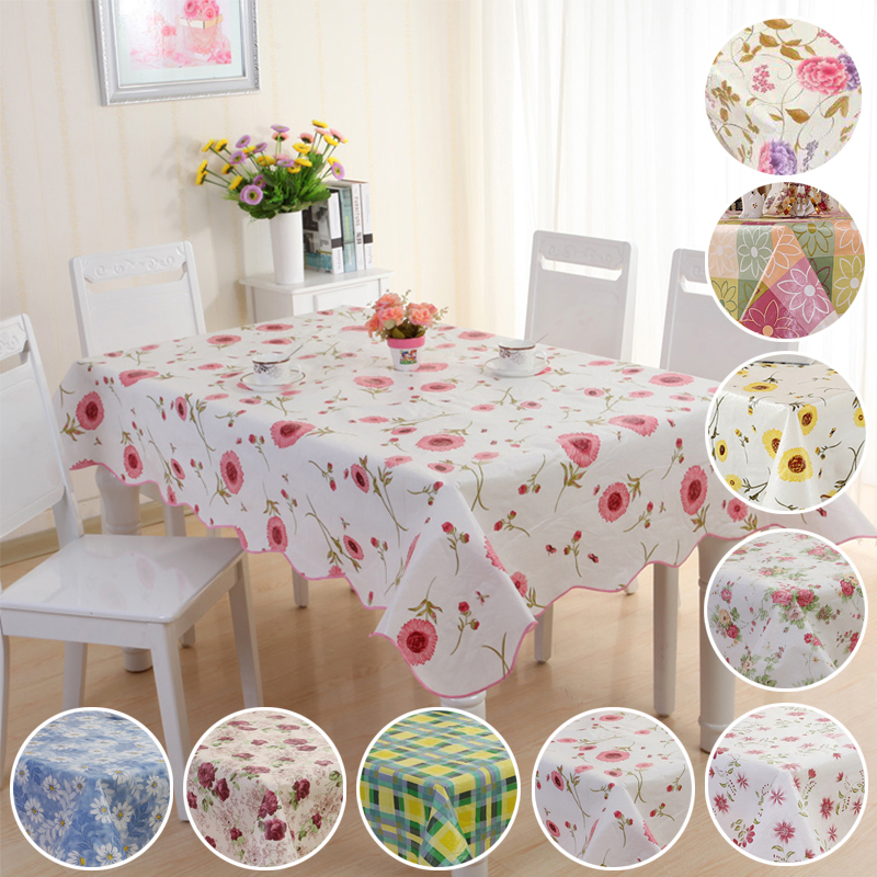 Wheels Kitchen Tablecloth PEVA Flannel Backed Multi Design /& Color Selection 52 X 52