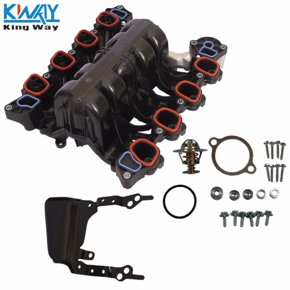 small resolution of detail feedback questions about free shipping king way intake manifold with thermostat gaskets kit for ford mercury lincoln 4 6l v8 on aliexpress com
