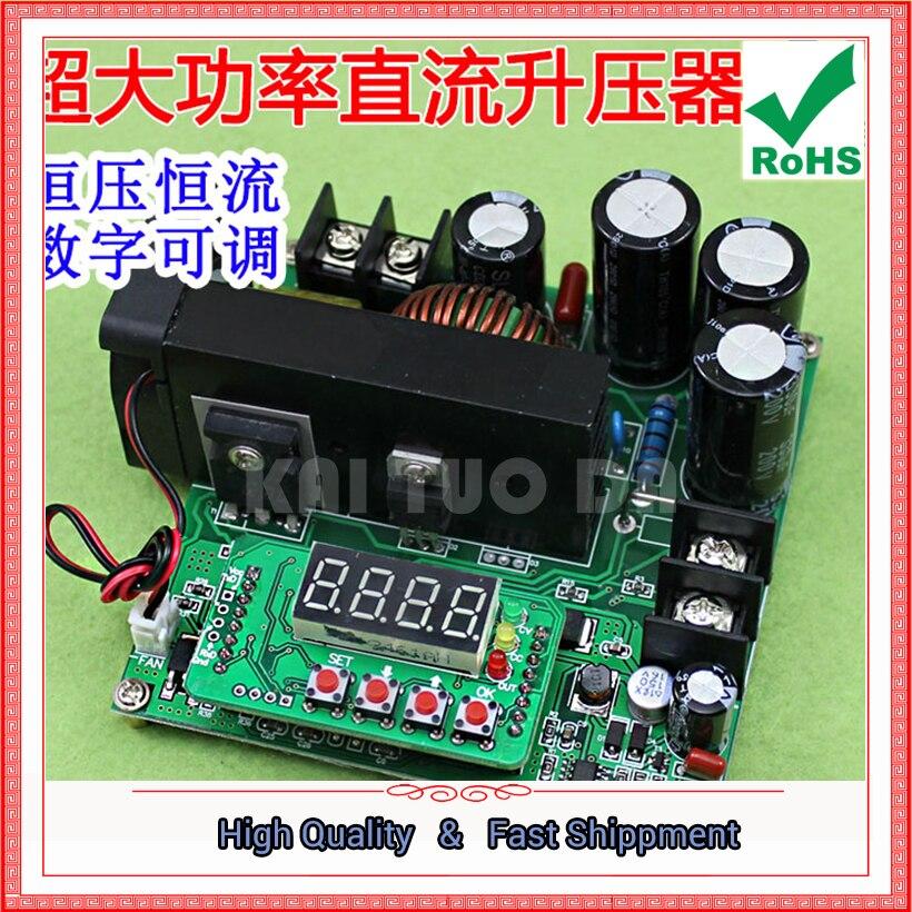 900 W NC DC Régulée Courant Constant Réglable Boost Module Tension Ampèremètre 120 V 15A Chargeur step up converter Booster 0.32 KG