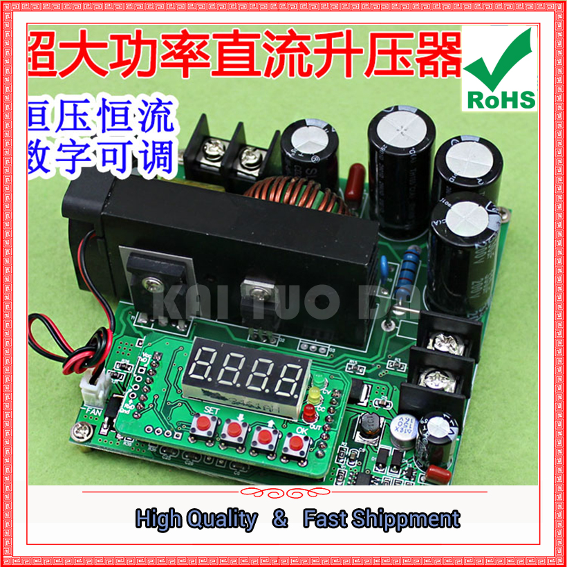 900W NC DC Regulated Constant Current Adjustable Boost Module Voltage Ammeter 120V 15A Charger step up