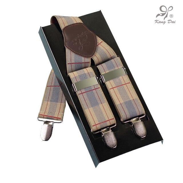 Moderne style bretelles homme élastique bretelles réglables en acier  inoxydable 3 clips ceinture amovible pour salopettes a3dd0b9b797