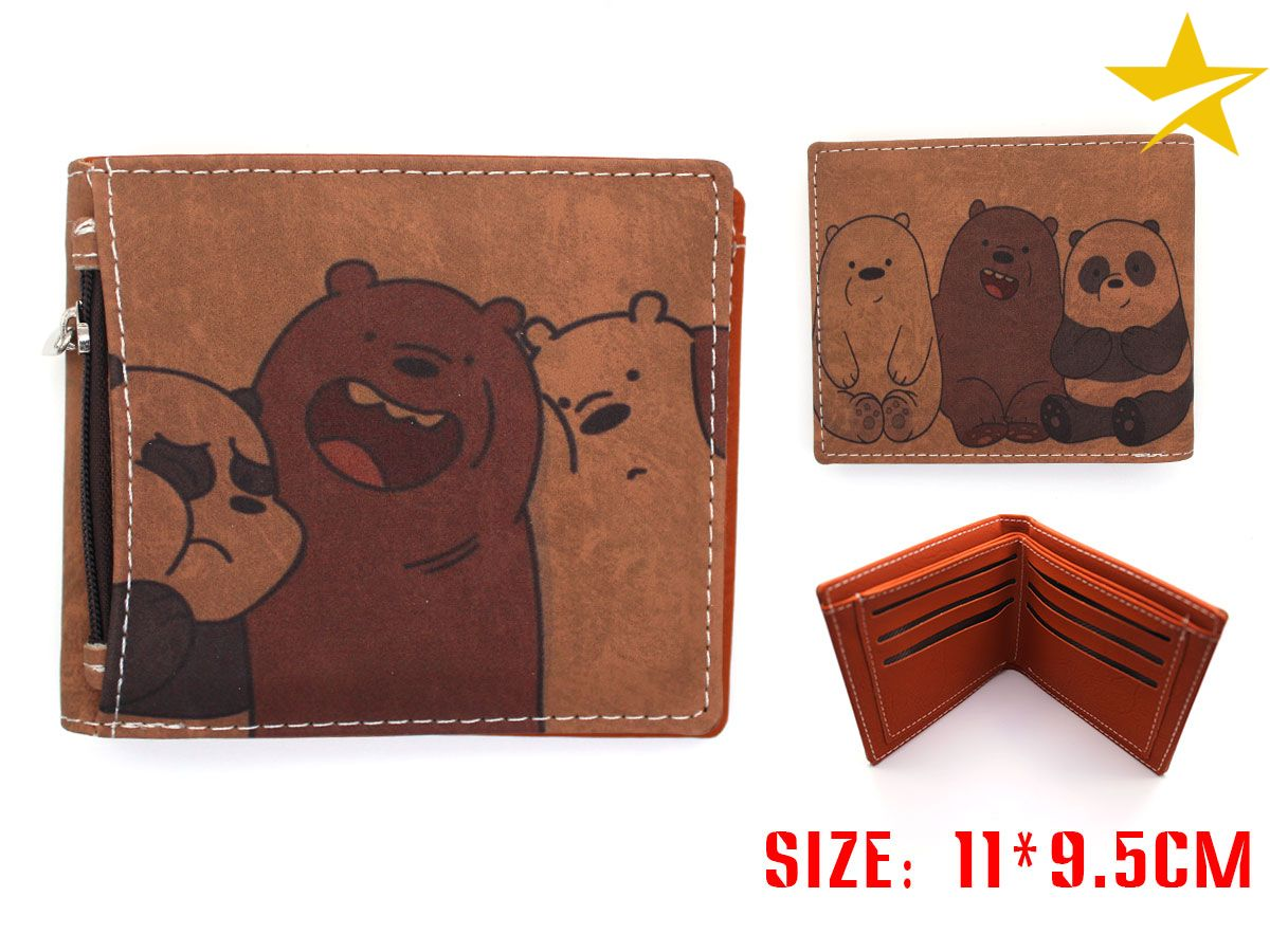Giancomics We Bare Bears Anime PU Leather Wallet Diversiform Cartoon Fashion Money Coin Convenient Pocket Card Cool Holder