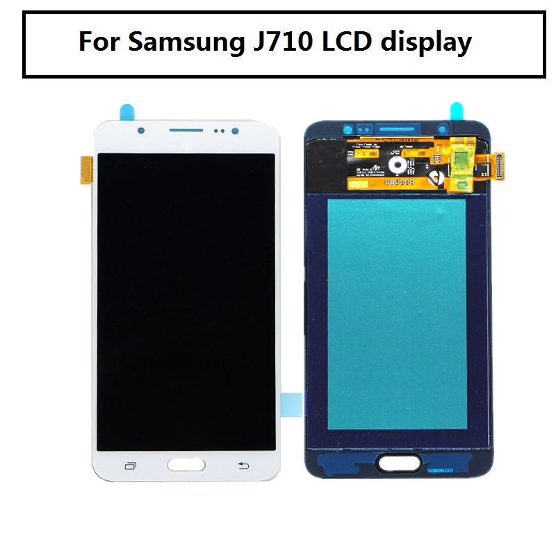 Prix pour 100% Testé J7 2016 Lcd Pour Samsung J710F J710M J710H J710FN Écran Lcd Avec Écran Tactile Digitizer Pour Samsung J710 Lcd Affichage