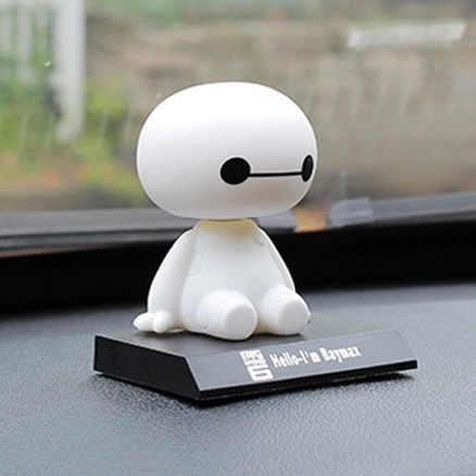 2019 novo grande herói 6 baymax brinquedo modelo bonecas figma 10cm adorável bonito automóvel cabeça balançando bobble cabeça figura de ação presente