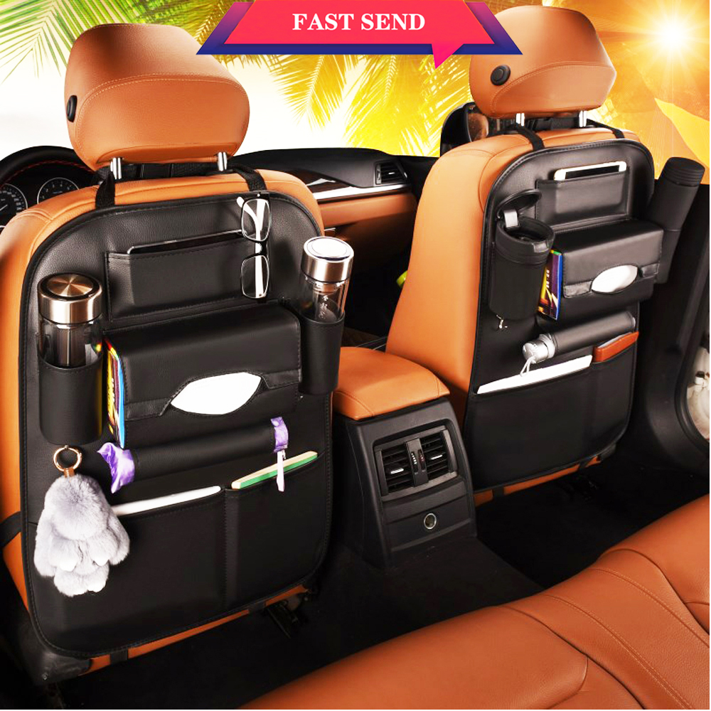 Class A car storage bag creative car organizer car seat cover Multifunctional seat back bag dirt-resistant easy clean freeship