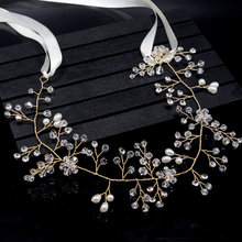 Gorgeous Rhinestone Hair Accessories Wedding Bridal Band Wedding Bridal Tiaras Band Belts For Women Gift CX17