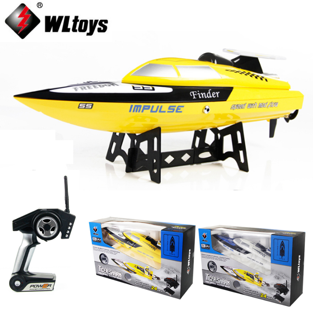 1 Set WLtoys WL912 4CH High Speed Racing RC Boat 24km/h RTF 2.4GHz Remote Control Racing Boat rc boat toys happy cow 777 218 remote control mini rc racing boat model