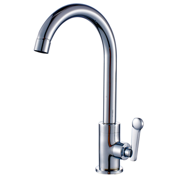 All copper body lead-free single handle single hole single cold kitchen faucet stainless steel sink faucet sink faucet LO510516