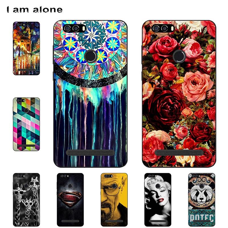 I am alone Phone Case For Leagoo Power 2 2018 5.0 inch Soft TPU Mobile Fashion Cartoon Printed For Leagoo Power 2 Free Shipping