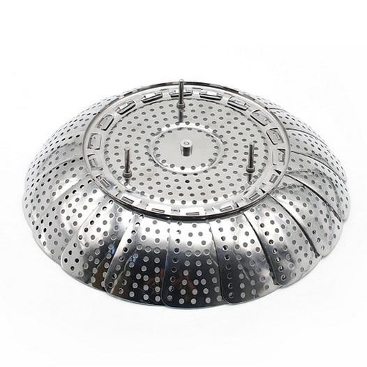 9 inç paslanmaz çelik katlanır vapur buğulanmış ızgara raf - Mutfak, Yemek ve Bar - Fotoğraf 4