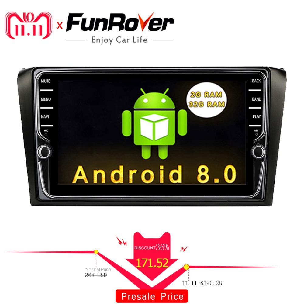 Funrover IPS 2 din Android 8.0 Car DVD Player For Mazda 3 mazda3 2004-2009 Radio Player Car GPS Navigation multimedia Stereo rds funrover 9 2 din android 8 0 car dvd player for suzuki sx4 2006 2013 car radio gps navigation multimedia player quad core rds
