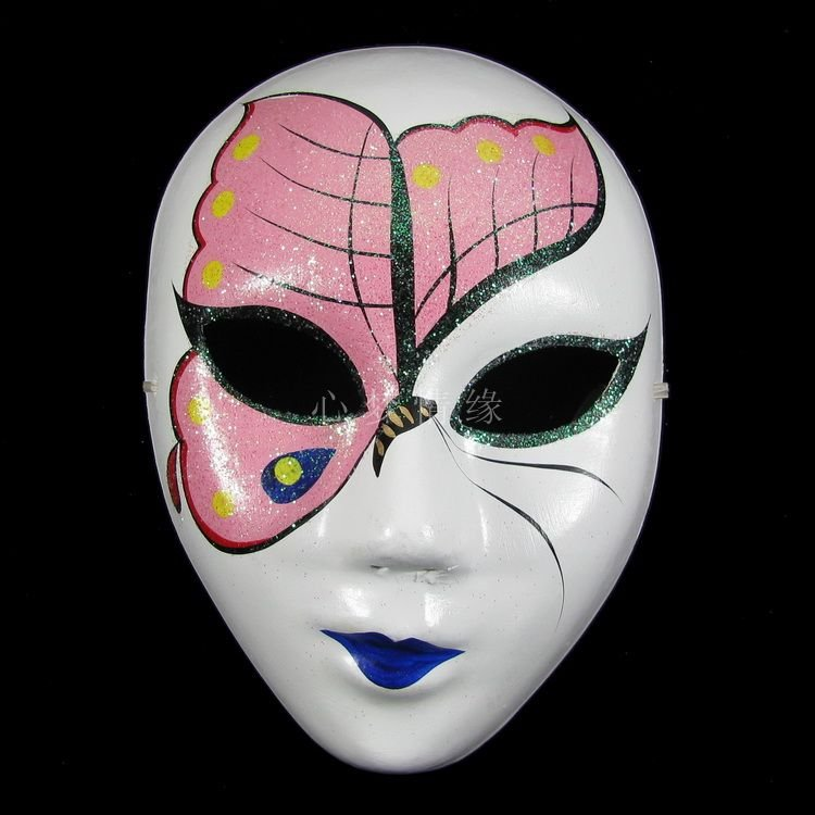 Paper Pulp Butterfly Full Face Mask Handmade Decorating Masquerade