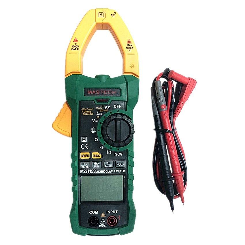 Цифровой измеритель емкости MASTECH MS2115B, измеритель частоты переменного/постоянного тока с интерфейсом USB и NCV