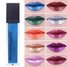 Фотография Matte Metallic Liquid Lip Stick Waterproof Makeup Metal Lip Gloss Lipstick Long Lasting Lipgloss Sexy Maquillaje Lipstick ye20