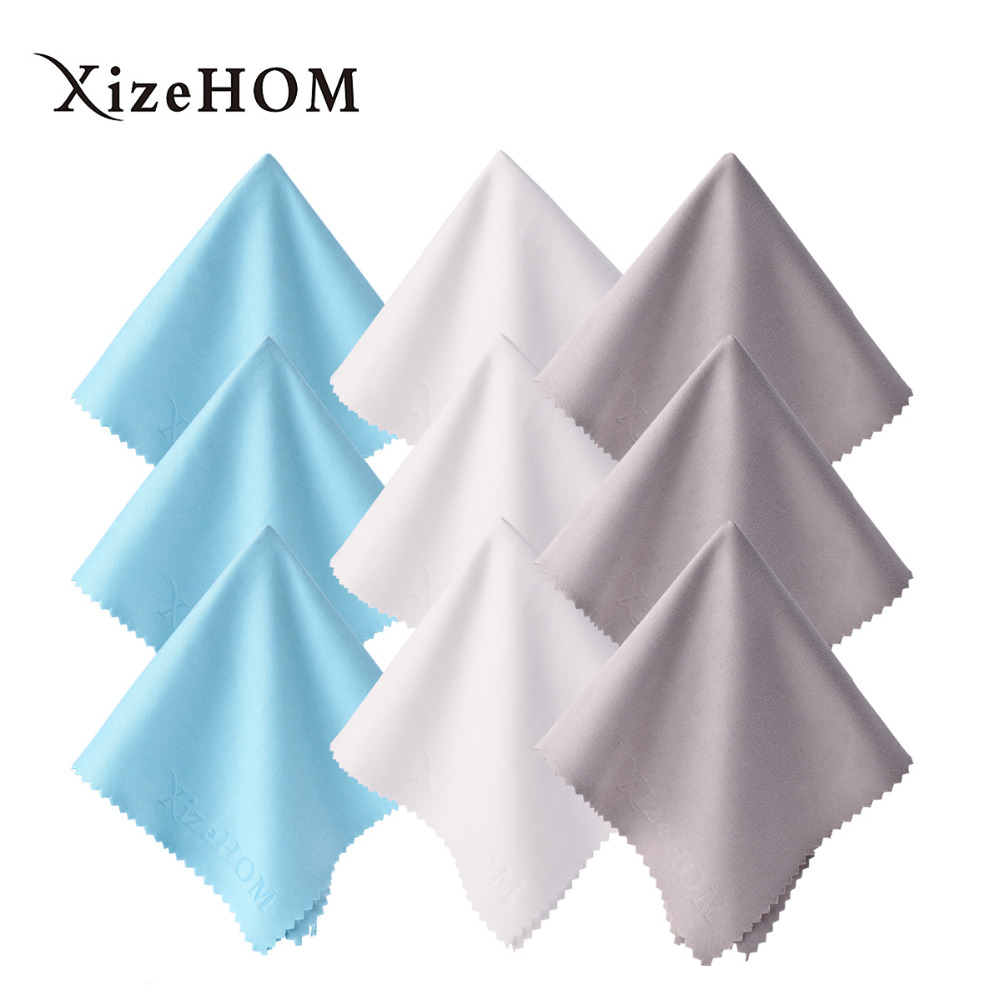 25*25cm/9pcs Microfiber Cleaning Cloth for All Eyeglasses, Glasses, Phones, Tablets,lens cleaning,sunglass cleaning