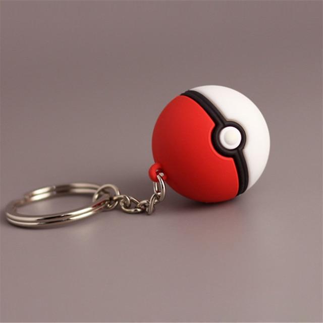 3D Pokemon Go Key Ring Poke Ball Key Holder Pendant Toy