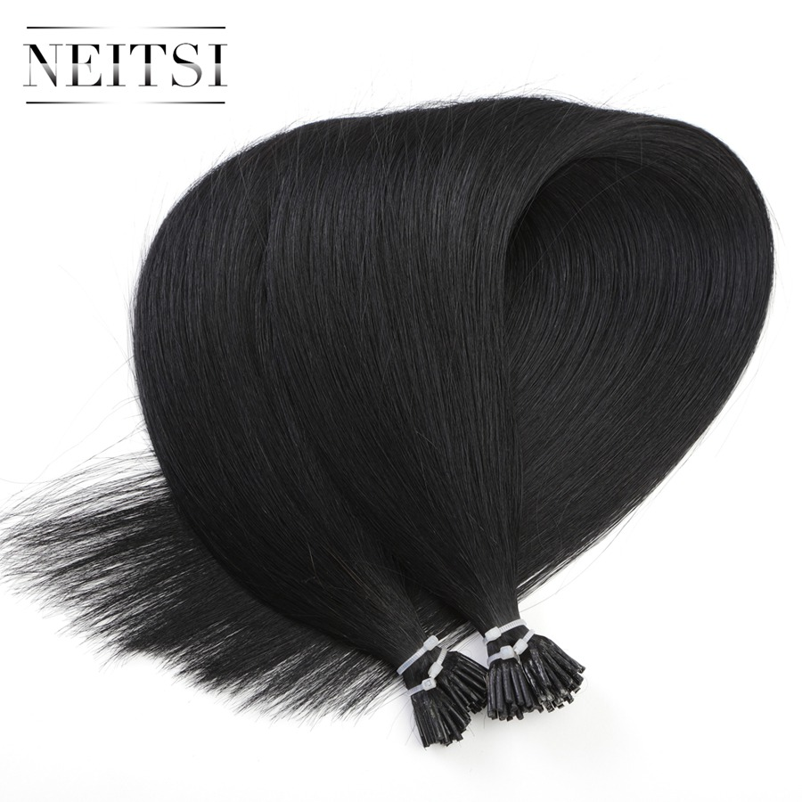 Neitsi Indian Machine Made Remy Hair I tip Keratin Fusion Human Hair Extensions 16 20 24