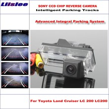 цена на Liislee Car Rear Back Camera For Toyota Land Cruiser LC 200 LC200 2008 ~ 2014 / Rearview Parking Camera Dynamic Tragectory