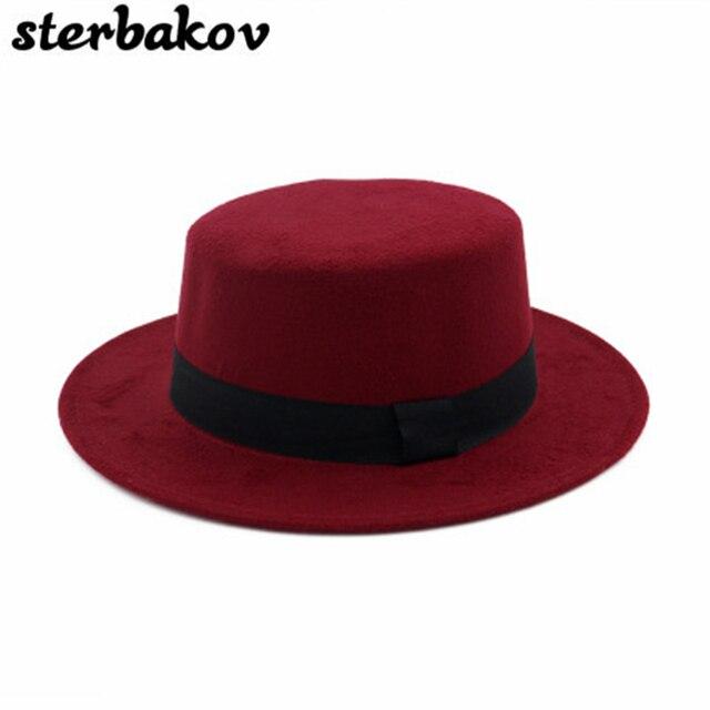 Hombres de Las Mujeres Se Sienten el Rockero Fedora Bowler Sombrero de  Pastel de Carne de 49dfa7abb5b