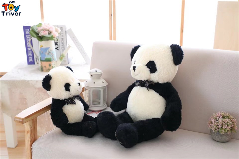 Plush Panda Toy Stuffed Animal Doll Chinese Pandas Baby Kids Children Birthday Gift Sleeping Toys Home Shop Decoration Triver in Stuffed Plush Animals from Toys Hobbies
