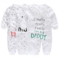 Newborn Children Unisex Baby Girls and Boys Winter Clothes 0 3 Months Onesie New Born Baby Long Sleeve Jumpsuit Bebe Clothing